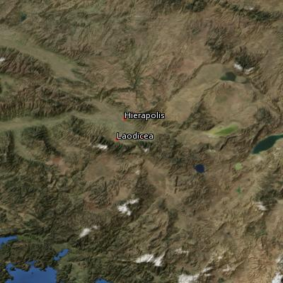 Satellite image of the places in Colossians