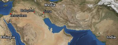 Satellite image of the places in Esther