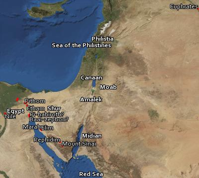 Satellite image of the places in Genesis